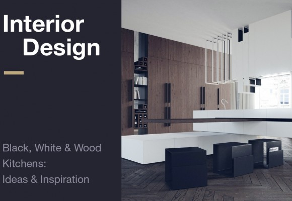 Interior Design: Black, White & Wood  Kitchens:  Ideas & Inspiration